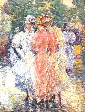 Frederick Childe Hassam - Conversation on the Avenue