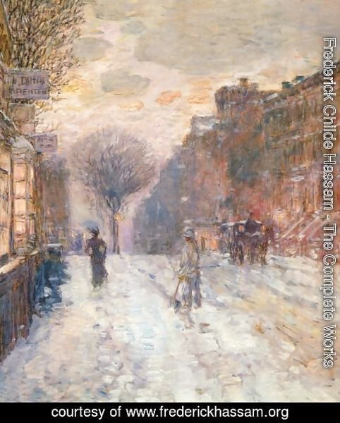 Frederick Childe Hassam - Early Evening, After Snowfall