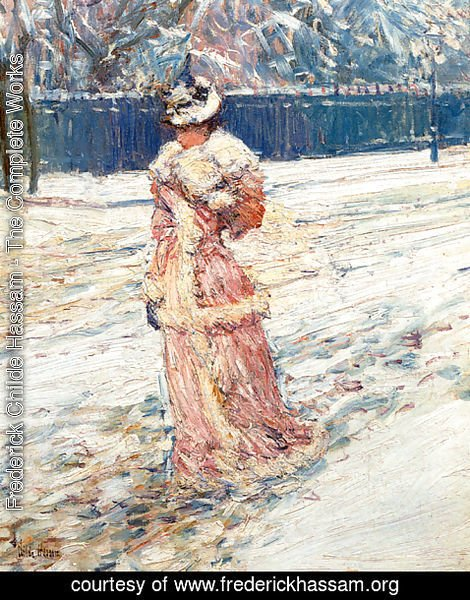 Frederick Childe Hassam - Lady in Pink