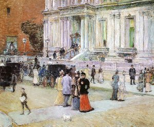 Frederick Childe Hassam - The Manhattan Club