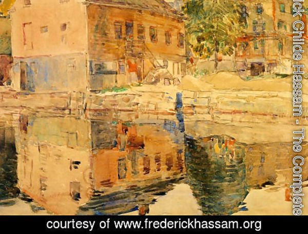 Frederick Childe Hassam - The Mirror, Cos Cob, Connecticut