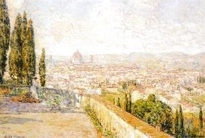 Frederick Childe Hassam - View of Florence from San Miniato