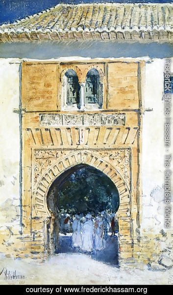 Frederick Childe Hassam - Gate of The Alhambra