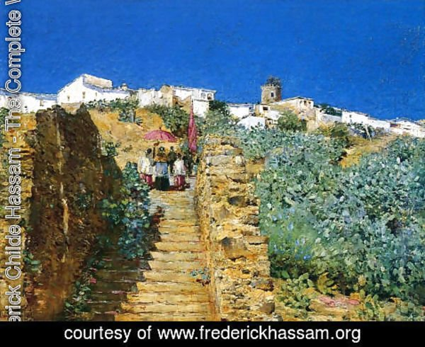 Lovely Frederick Childe Hassam   Church Procession, Spanish Steps