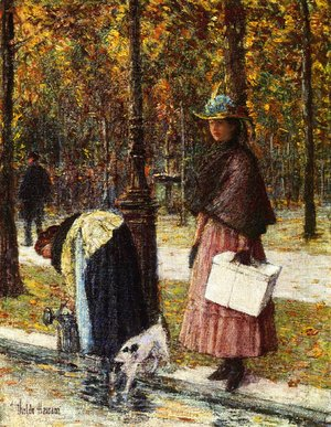 Frederick Childe Hassam - Evening, Champs-Elysees