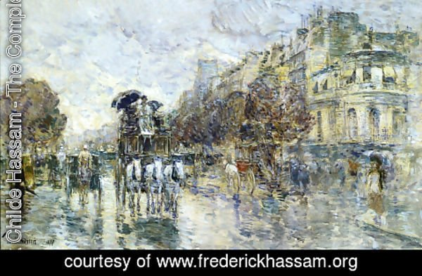 Frederick Childe Hassam - Les Grands Boulevards, Paris
