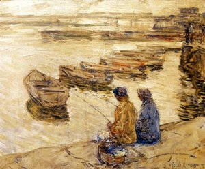 Frederick Childe Hassam - Fishing