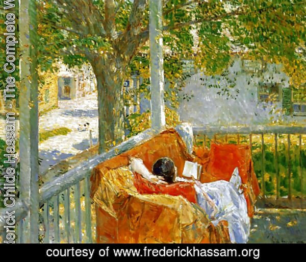 Frederick Childe Hassam - Couch on the Porch, Cos Cob