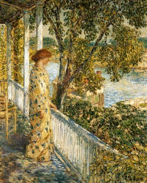 Frederick Childe Hassam - Listening to the Orchard Oriole