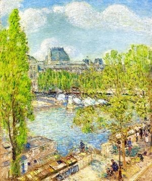 Frederick Childe Hassam - April, Quai Voltaire, Paris