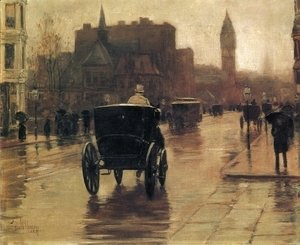 Frederick Childe Hassam - Columbus Avenue, Rainy Day