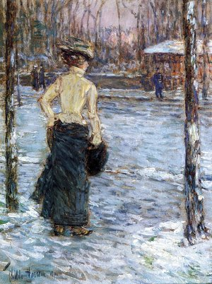 Frederick Childe Hassam - Winter, Central Park