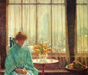 Frederick Childe Hassam - The Breakfast Room, Winter Morning