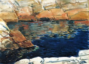 Frederick Childe Hassam - Looking into Beryl Pool