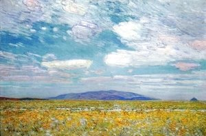 Frederick Childe Hassam - Alkali, Rabbit Brush and Grease Wood Squaw Cap, Oregon Trail
