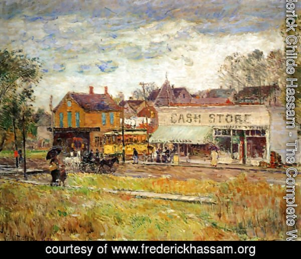 Frederick Childe Hassam - End of the Trolley Line, Oak Park, Illinois