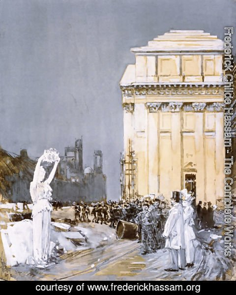 Frederick Childe Hassam - Scene at the World's Columbian Exposition, Chicago, Illinois