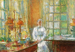 Frederick Childe Hassam - Mrs. Holley of Cos Cob, Connecticut