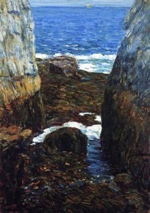 Frederick Childe Hassam - The North Gorge, Appledore, Isles of Shoals