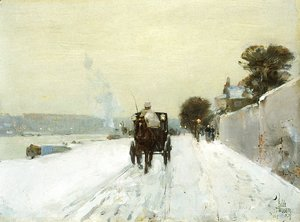Frederick Childe Hassam - Along the Seine
