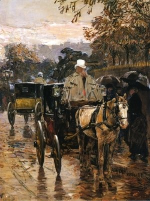 Frederick Childe Hassam - Hackney Carriage, Rue Bonaparte