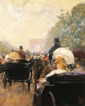 Frederick Childe Hassam - Carriage Parade
