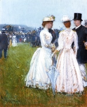 Frederick Childe Hassam - At the Grand Prix in Paris