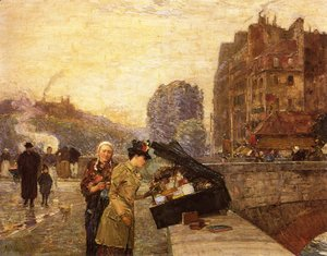Frederick Childe Hassam - The Quai St. Michel