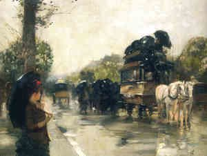 Frederick Childe Hassam - April Showers, Champs Elysees Paris