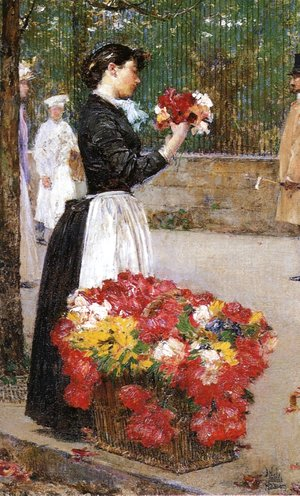 Frederick Childe Hassam - Flower Girl