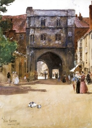 Frederick Childe Hassam - Gateway at Canterbury
