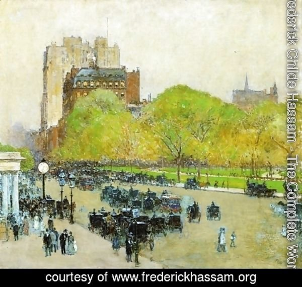 Frederick Childe Hassam - Spring Morning in the Heart of the City