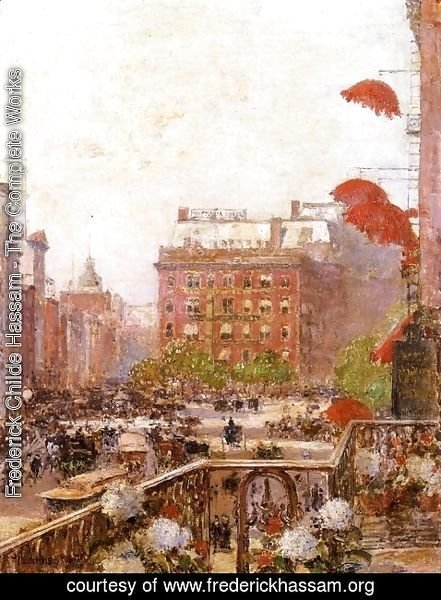 Frederick Childe Hassam - View of Broadway and Fifth Avenue