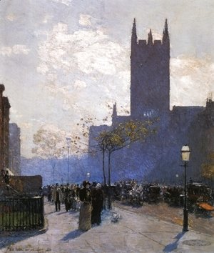 Frederick Childe Hassam - Lower Fifth Avenue