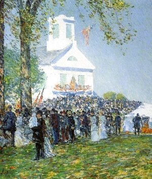 Frederick Childe Hassam - Country Fair, New England