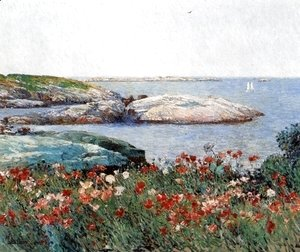 Frederick Childe Hassam - Poppies, Isles of Shoals I