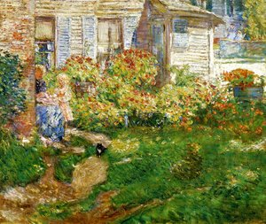 Frederick Childe Hassam - A Fisherman's Cottage