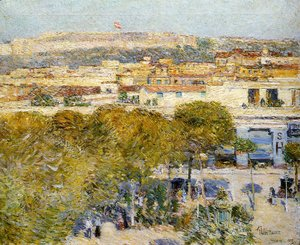 Frederick Childe Hassam - Place Centrale and fort Cabanas, Havana