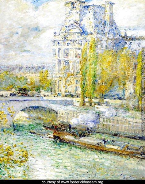 Frederick Childe Hassam   Le Louvre Et Le Pont Royal