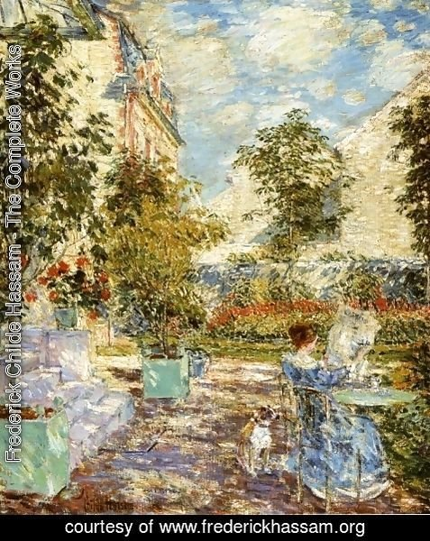 Frederick Childe Hassam - In a French Garden