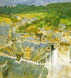 Frederick Childe Hassam   Rooftops: Pont Aven