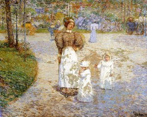 Frederick Childe Hassam - Spring in Central Park