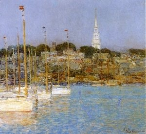 Frederick Childe Hassam - Cat Boats, Newport