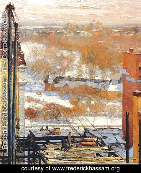 Frederick Childe Hassam - The Hovel and the Skyscraper