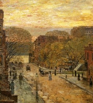 Frederick Childe Hassam - Spring on West 78th Street