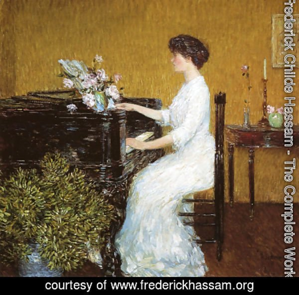 Frederick Childe Hassam - At the Piano