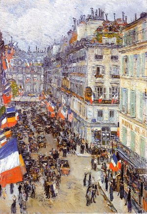 Frederick Childe Hassam - July Fourteenth, Rue Daunou