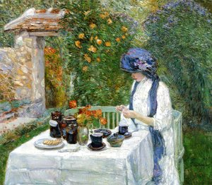 Frederick Childe Hassam - The Terre-Cuite Tea Set