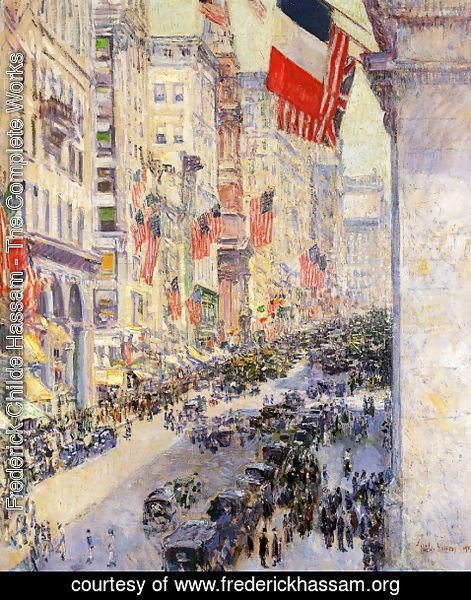 Frederick Childe Hassam - Up the Avenue from Thirty-Fourth Street, 1917