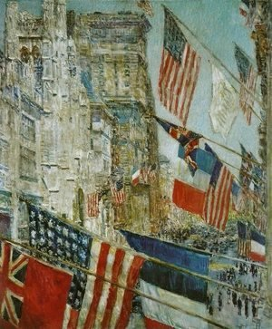 Frederick Childe Hassam - Allies Day, May, 1917